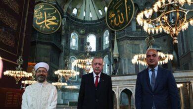 """Photo of أردوغان يوجه تهنئة بالذكرى الأولى لإعادة فتح """"آيا صوفيا"""""""