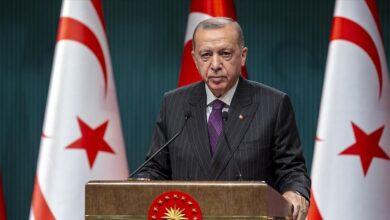 Photo of أردوغان: مفتاح حل أزمة الجزيرة يكون بمساواة القبارصة الأتراك في السيادة